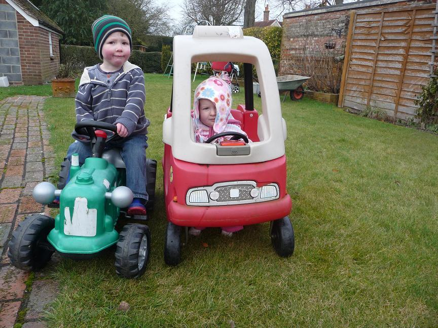 James and Alice enjoy their first rides of the year