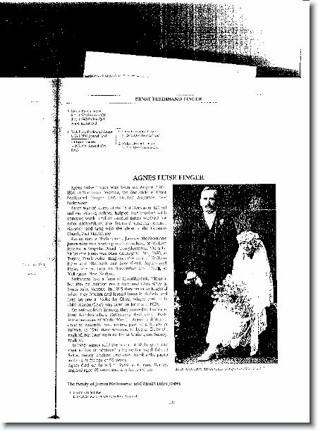 Marriage of James Melbourne Jones and Angy Finger